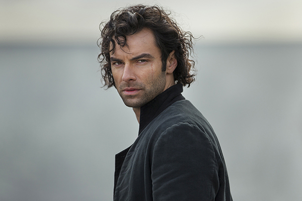 Poldark (Aiden Turner) sea in background