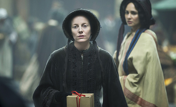 Frances Barbary (Alexandra Moen) and Amelia Havisham (Tuppence Middleton)