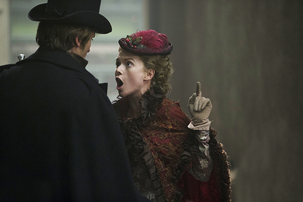 Sally Compeyson (Antonia Bernath) argues with Meriwether Compeyson (Tom Weston-Jones)