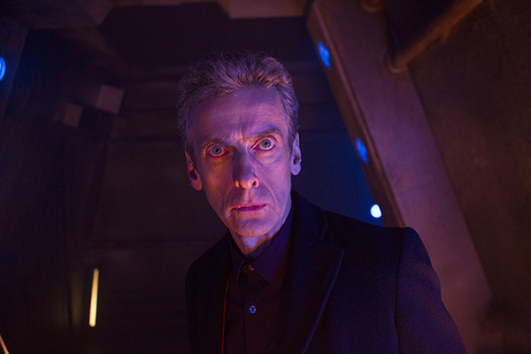 Doctor Who (Peter Capaldi) looking into camera