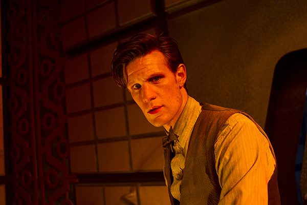 The Doctor (Matt Smith) looks into the camera