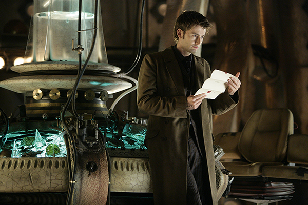 unit still photo of The Doctor reading letter from episode The Girl In The Fireplace
