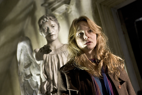 unit still photo from Doctor Who Episode Blink, an angel reaches out for Sally
