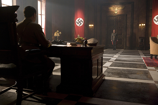 unit still inside Hitlers office from Doctor Who episode Lets Kill Hitler